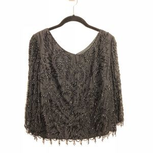 Haz'ls Exclusives of Lafayette Fully Beaded Blouse